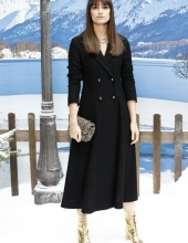 Clara Luciani . Chanel : Photocall- Paris Fashion Week Womenswear Fall/Winter 2019/2020