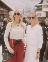 Claudia Schiffer and  Laura Bailey