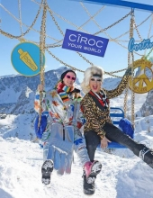 Jeremy Scott and Jodie Harsh . DMB Ciroc Moschino Winter hotspot day