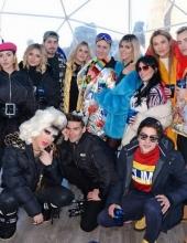 Veronica Ferraro, Valentina Ferragni, Nima Benati, Cristina Musacchio and .  Luca Vezil DMB Ciroc Moschino Winter hotspot day