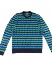 DRUMOHR_D8W303NG_Maglia girocollo in lana con particolare lavorazione a trecce in 6 diverse tonalità di colore
