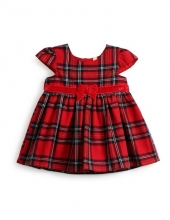 Primark baby Xmas Kimball - Dark red Check  dress - Grade Missing