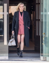 Diane Kruger wearing Mango in Berlin