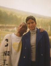 Pharrell Williams and Helen Williams at Chanel The Paris New York 2018-19 Metiers d'art collection