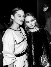 Marion Cotillard with Lily-Rose Depp at Chanel The Paris New York 2018-19 Metiers d'art collection