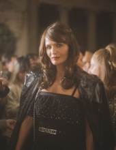 Helena Christensen at Chanel The Paris New York 2018-19 Metiers d'art collection