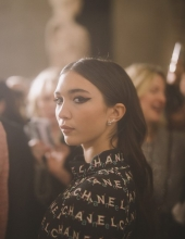 Rowan Blanchard at Chanel The Paris New York 2018-19 Metiers d'art collection