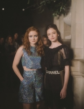 Sadie Sink with Mackenzie Foy at Chanel The Paris New York 2018-19 Metiers d'art collection