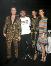 Alessandro Egger, Alex Di Giorgio, Marianna Di Martino and Elisa Visari - Moschino - Front Row - Menswear Collection Autumn/Winter 2019/20