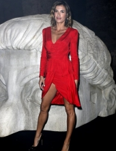 Elisabetta Canalis . Moschino - Front Row - Menswear Collection Autumn/Winter 2019/20