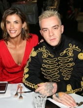 Elisabetta Canalis and Salmo . Moschino - Front Row - Menswear Collection Autumn/Winter 2019/20
