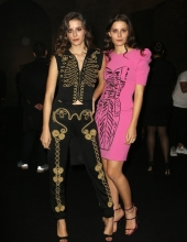 Giorgia and Greta Berti . Moschino - Front Row - Menswear Collection Autumn/Winter 2019/20
