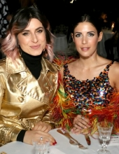 Gloria Bombarda and Martina Luchena . Moschino - Front Row - Menswear Collection Autumn/Winter 2019/20