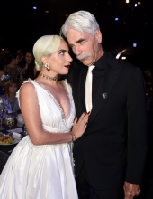 Sam Elliott & Lady Gaga attends the 25th Annual Screen ActorsGuild Awards at The Shrine Auditorium on January 27, 2019 in Los Angeles, California.