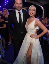 Bradley Cooper & Lady Gaga - onstage during the 25th Annual Screen ActorsGuild Awards at The Shrine Auditorium on January 27, 2019 in Los Angeles, California.