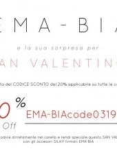 EMA-BIA Promo SanValentino codice sconto 20 %